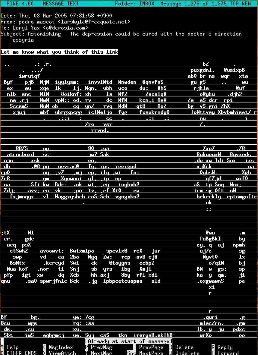 One Line Ascii Art Music : Ascii spam as it were