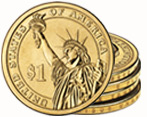 Dollar Coin Stack