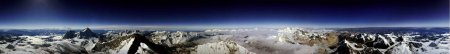 Panoramic View From The Top Of Mt. Everest