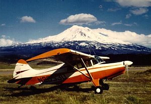 Maule Aircraft in front of a mountain