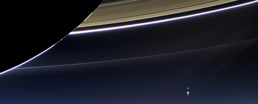 Earth-Moon system as seen from Saturn