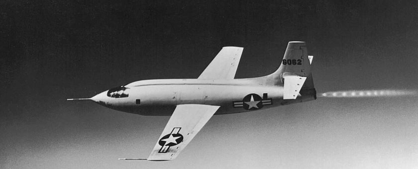 Bell X-1 breaking the sound barrier