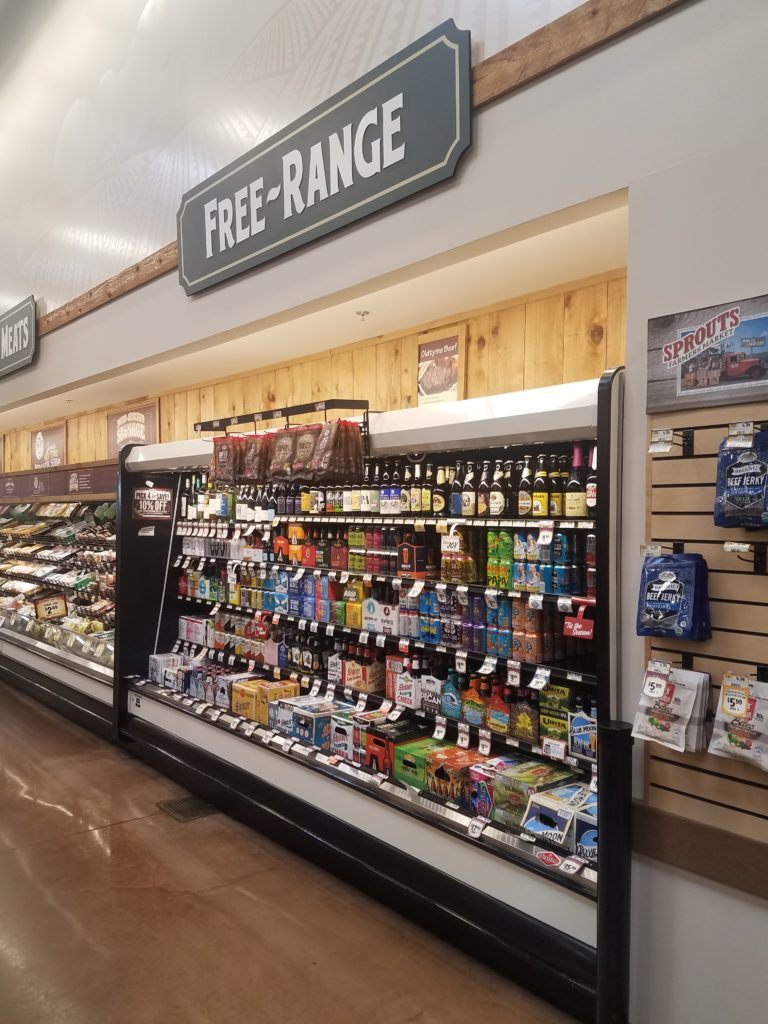 "Beer case labeled ""Free Range"""